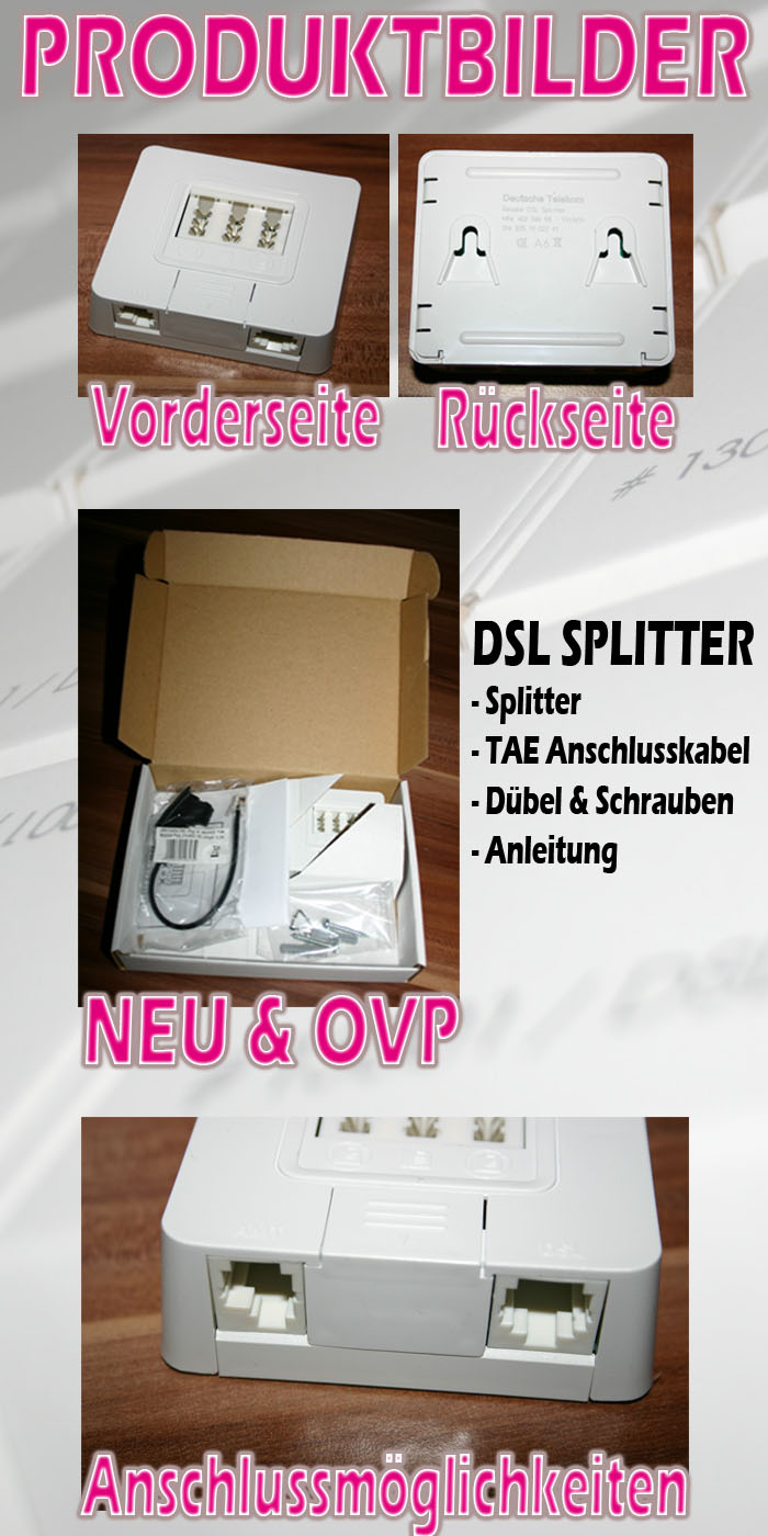 original telekom dsl splitter weiche isdn adsl telecom ebay. Black Bedroom Furniture Sets. Home Design Ideas